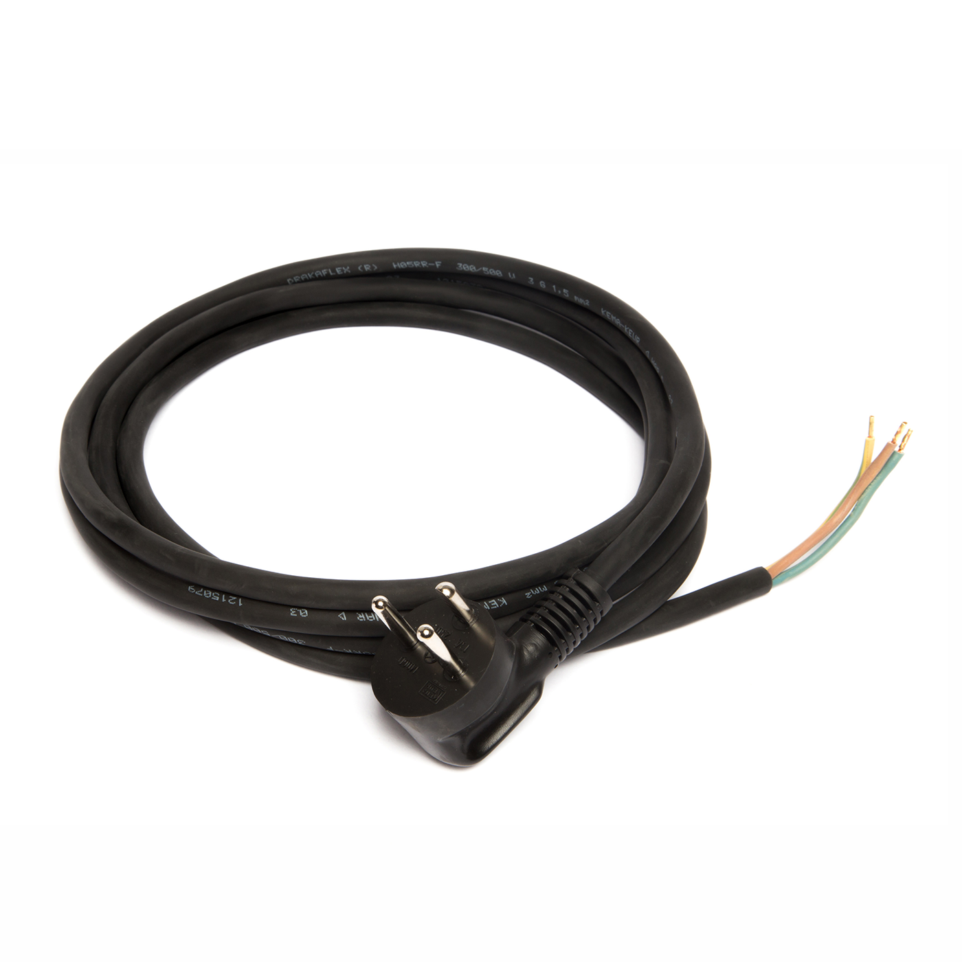 Power cable with Danish plug-in, black