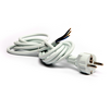 Power cable with EURO plug-in, white