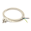 Power cable with Danish plug-in, white